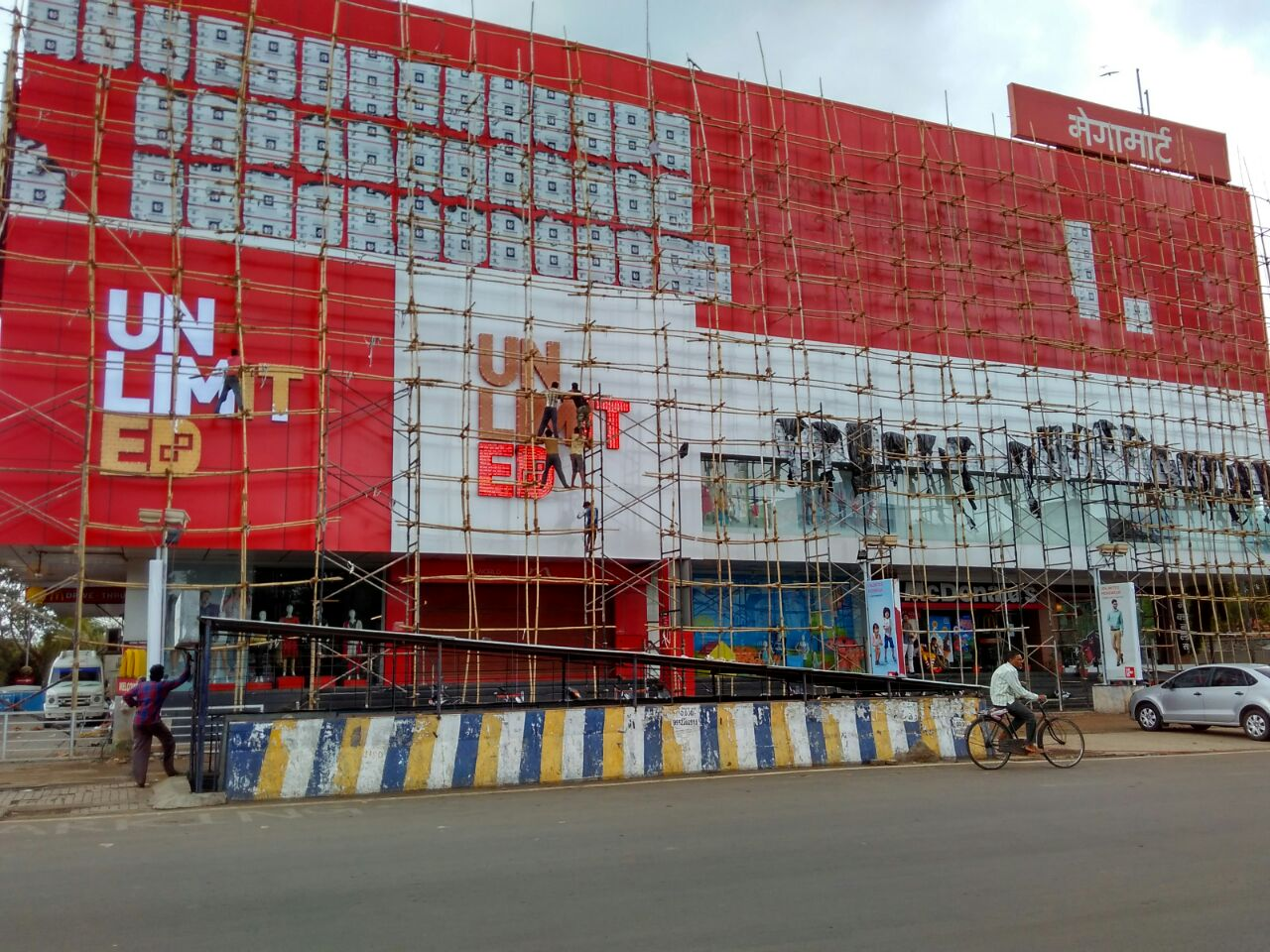 Exterior ACP Cladding work for popular fashion store