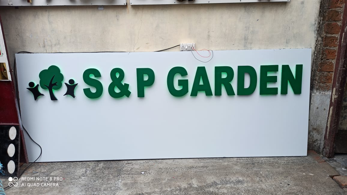 Exterior Aluminium Solid letters installed for real estate company