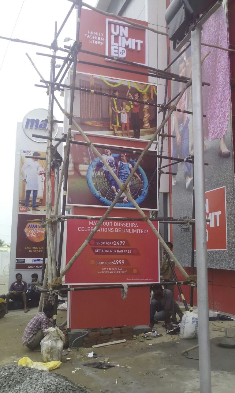 Outdoor ACP Sign Board customized for Fashion store in Chennai