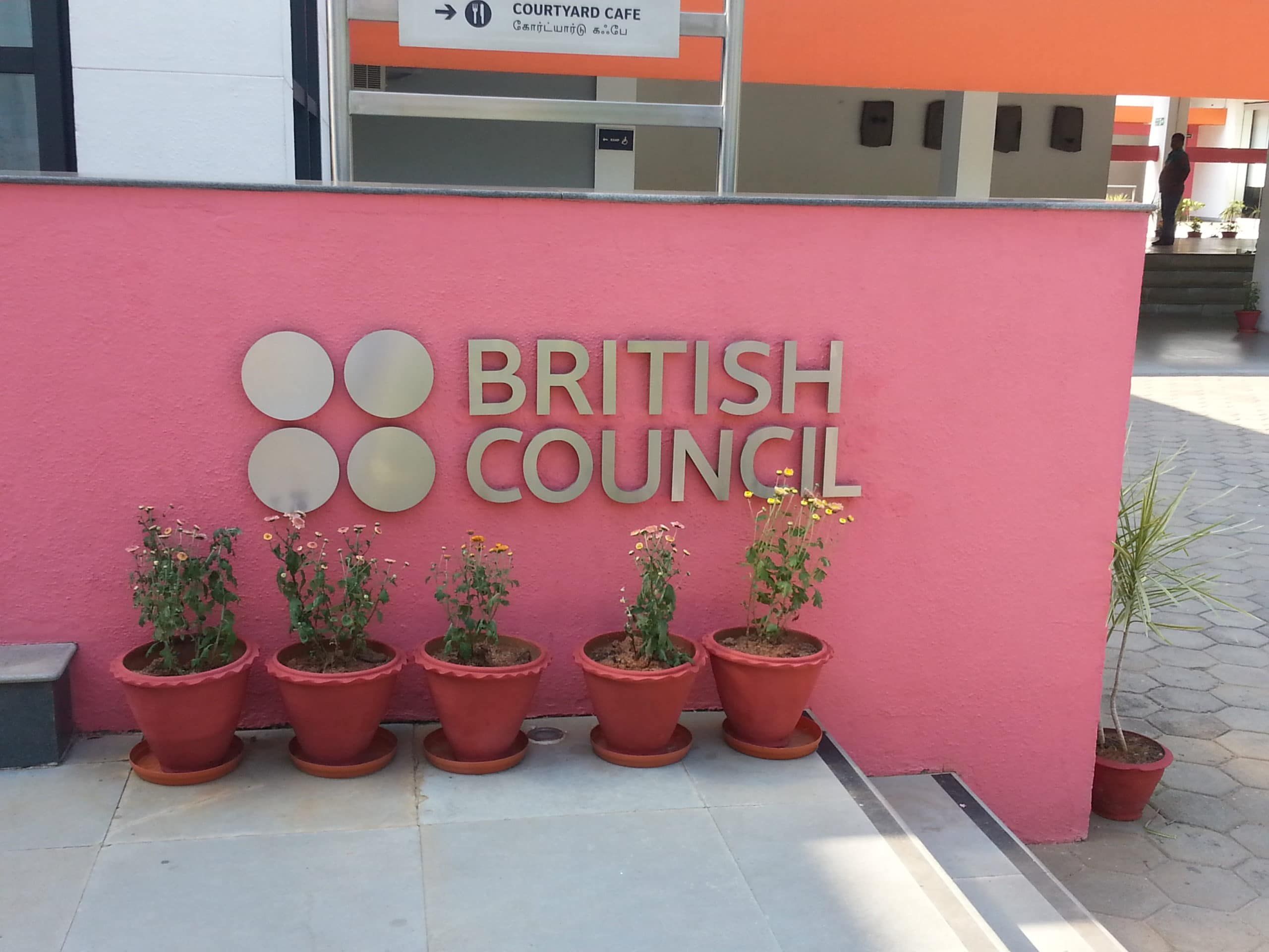 Stainless steel letters with matt finish for British Council