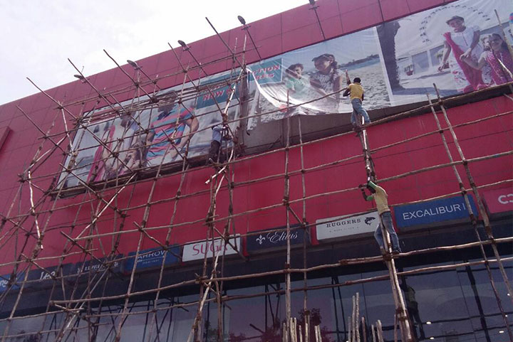 ACP Cladding installation for a popular store in Chennai