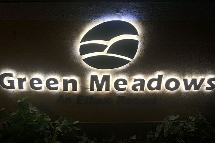 Exquisite SS letters with backlit LED designed for a famous resort in Chennai