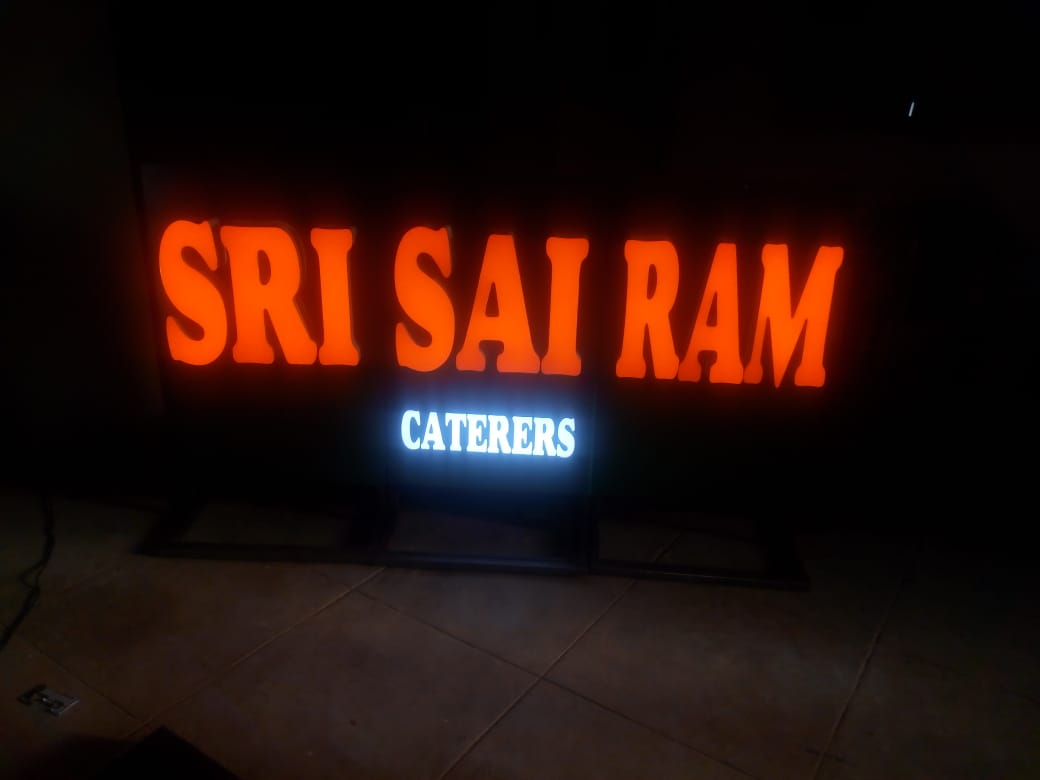 Trimless LED Letter Sign Board Customized for Caterer in Chennai